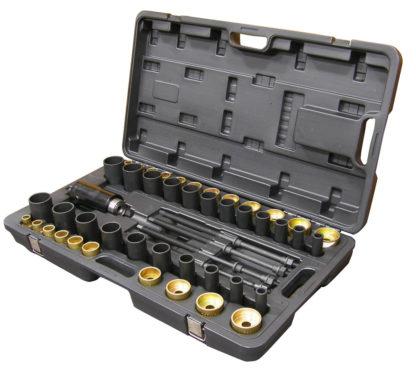 Набор для монтажа/демонтажа втулок (сайлентблоков) с вытяжными шпильками (49 шт) | TVK-02001