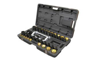 Набор для монтажа/демонтажа втулок (сайлентблоков) с фиксирующей рамкой (47 шт) | TVK-02002