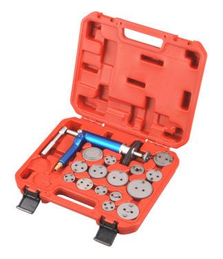Пневмо-инструмент для утапливания поршней тормозных цилиндров в наборе (16 шт), TVK-03002