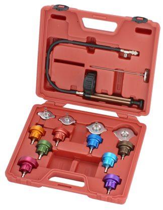 Универсальный набор для тестирования герметичности системы охлаждения (14 шт), TVK-04006