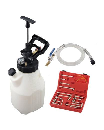 Набор для заправки масла в АКПП пневматическим и ручным методами, 12,5 л с адаптерами (17 предметов) | TVK-06026
