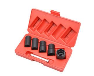 Набор головок- экстракторов для поврежденных болтов и гаек 17, 19, 21, 23, 27 мм, 1/2''DR (6 шт) | TVK-07006
