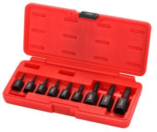 Набор экстракторов для удаления шпилек и винтов (3/8'' и 1/2'') (9 шт) | TVK-07010