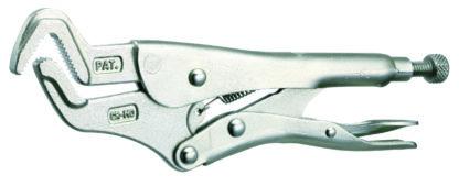 Зажимные клещи с изогнутыми узкими губками 228 мм (ручные тиски струбцина) | TVK-07015