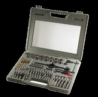 Универсальный комплект метчиков и плашек (52 шт), TVK-08013
