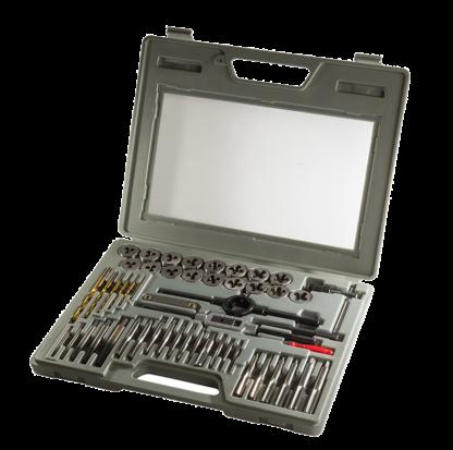Универсальный комплект метчиков и плашек (52 шт) | TVK-08013