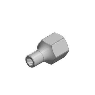 1/2″ спиральная торцевая головка (экстрактор), HEX — 7 мм   TVK-07004-07