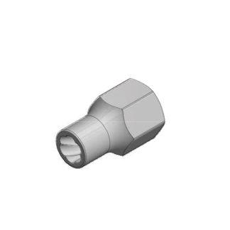 1/2″ спиральная торцевая головка (экстрактор), HEX — 10 мм | TVK-07004-10