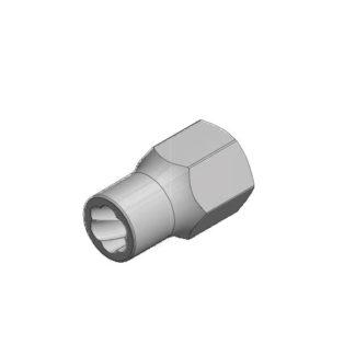 1/2″ спиральная торцевая головка (экстрактор), HEX — 11 мм   TVK-07004-11