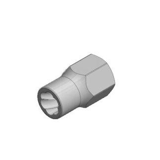 1/2″ спиральная торцевая головка (экстрактор), HEX — 12 мм   TVK-07004-12
