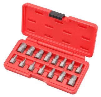 Набор экстракторов сорванного крепежа 3-14 мм  (15 шт) | TVK-07029