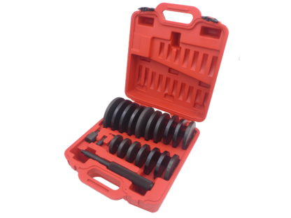 Набор оправок для выпрессовки подшипников, втулок, сальников 70-150 мм (21 шт) | TVK-02024
