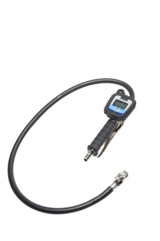 Цифровой шинный манометр с накачкой (шланг 85 см) | TVK-09041