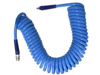 Шланг воздушный спиральный полиуретановый Ø10х14х10 м с металлическими БРС (евро) | TVK-09025
