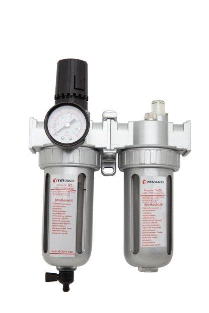 Модульная группа для подготовки воздуха с регулятором давления 1/4″ | TVK-09016