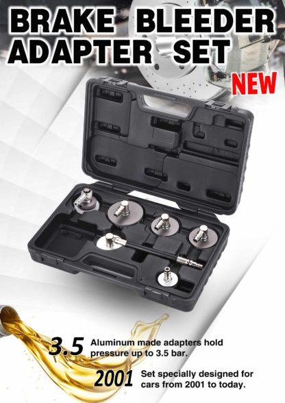 Набор крышек адаптеров для прокачивания тормозной жидкости (6 шт) | TVK-03024