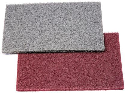 Абразивный материал на синтетической основе 150х230мм красный