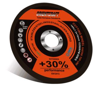 Армированный отрезной диск по нержавеющей стали ORIENTCRAFT (125*1.0*22,2)