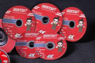 Армированный отрезной диск по нержавеющей стали ORIENTCRAFT (125*1.2*22,2)