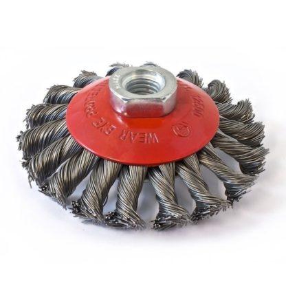 Кордщетка дисковая (радиальная) скрученная 75MM  M14X2 ORIENTCRAFT
