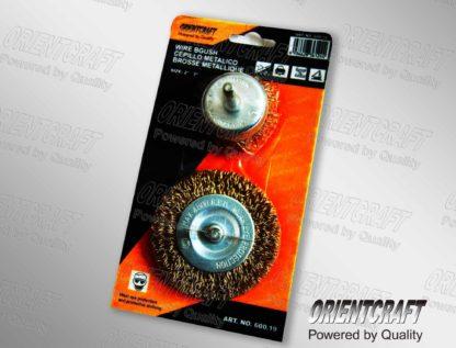 Набор из 2-х кордщеток чашка 75 мм +диск 100 мм в блистере ORIENTCRAFT