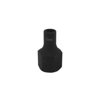 1/2″ спиральная торцевая головка (экстрактор), HEX — 7 мм | TVK-07004-07